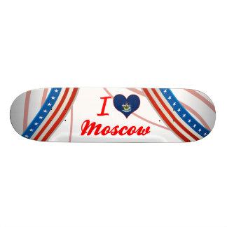 I Love Moscow, Maine Custom Skate Board