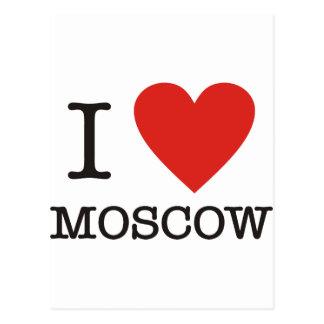 I love Moscow Postcard