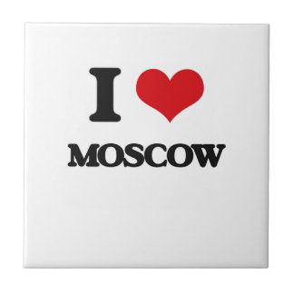 I love Moscow Small Square Tile