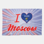 I Love Moscow, Wisconsin Kitchen Towel