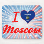 I Love Moscow, Wisconsin Mouse Pad