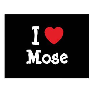 I love Mose heart custom personalized Postcards