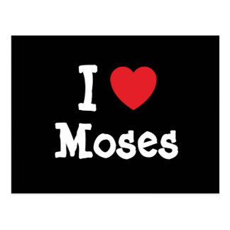 I love Moses heart custom personalized Post Card