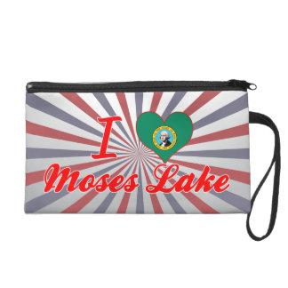 I Love Moses+Lake, Washington Wristlet Clutches