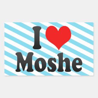 I love Moshe Rectangular Sticker