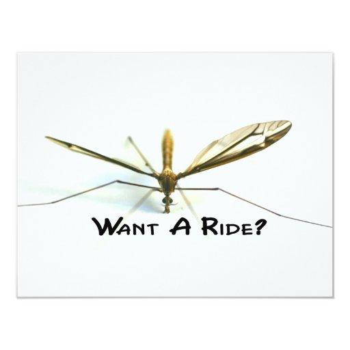 I love mosquitos 4.25x5.5 paper invitation card