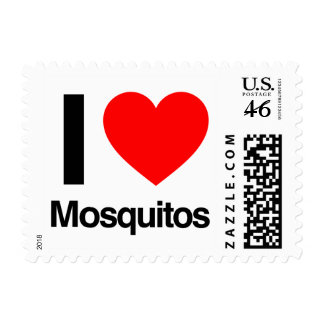 i love mosquitos postage stamps