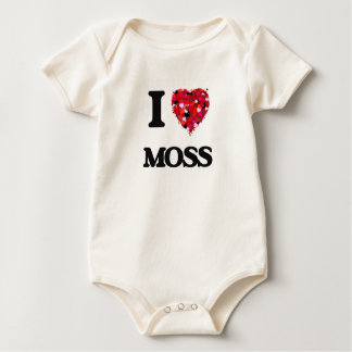 I Love Moss Baby Bodysuits