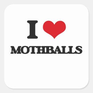 I Love Mothballs Square Sticker