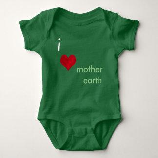 I Love Mother Earth Baby Bodysuit