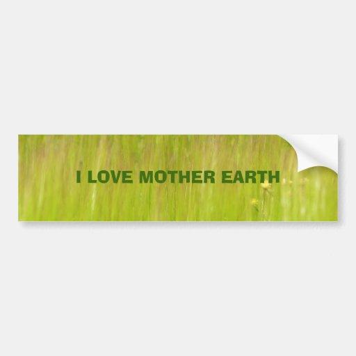 i love mother earth bumper sticker