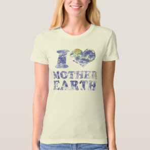 I love mother earth organic t shirt