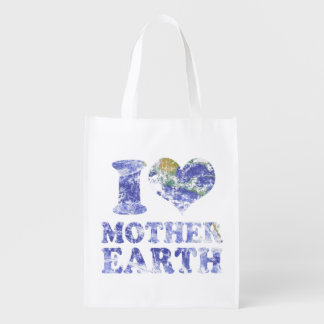 I love mother earth reusable grocery bag