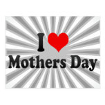 I love Mothers Day Postcard