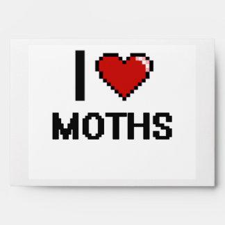 I Love Moths Digital Retro Design Envelope