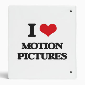 I Love Motion Pictures Binders