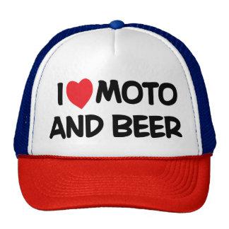 i LOVE MOTO AND BEER Trucker Hat