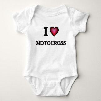 I Love Motocross Baby Bodysuit