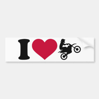 I love Motocross Bumper Sticker