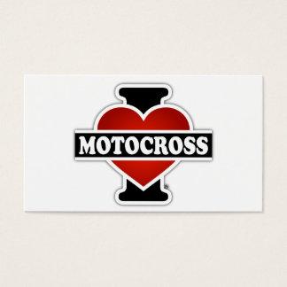 I Love Motocross Business Card