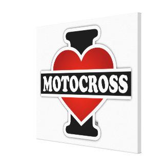 I Love Motocross Canvas Print