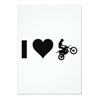 I Love Motocross Card