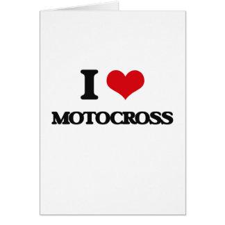 I Love Motocross Greeting Cards