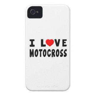 I Love Motocross iPhone 4 Case-Mate Cases