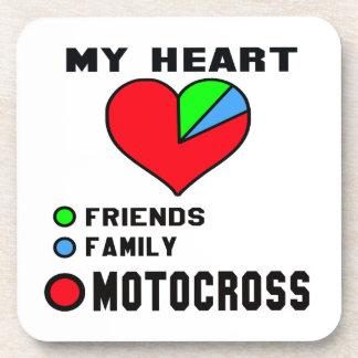 I love Motocross. Drink Coaster