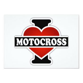 I Love Motocross 5x7 Paper Invitation Card