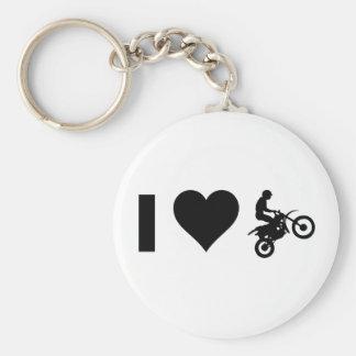I Love Motocross Keychain