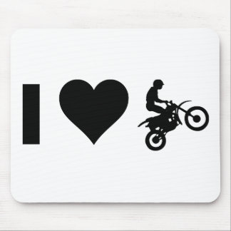 I Love Motocross Mouse Pad