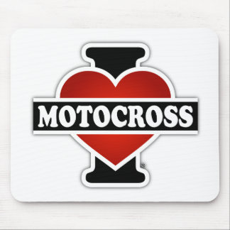 I Love Motocross Mouse Pad