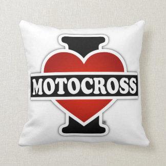 I Love Motocross Pillow