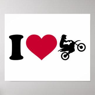 I love Motocross Poster