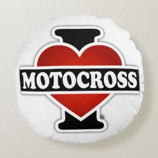 I Love Motocross Round Pillow