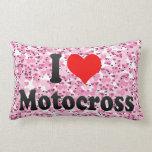 I love Motocross Throw Pillows