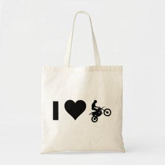 I Love Motocross Tote Bag