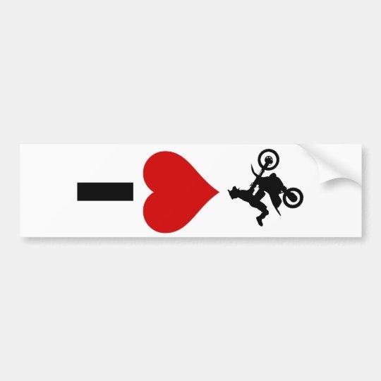 I Love Motocross (Vertical) Bumper Sticker