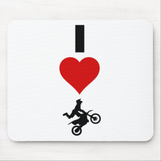 I Love Motocross (Vertical) Mouse Pad