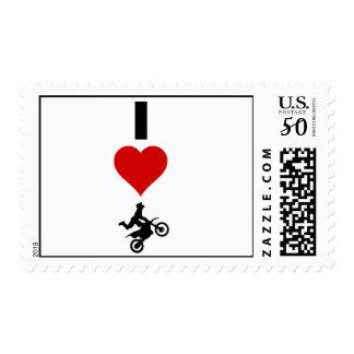 I Love Motocross (Vertical) Postage