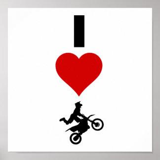 I Love Motocross (Vertical) Poster