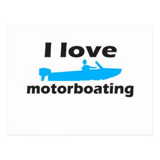 I Love Motorboating Postcards