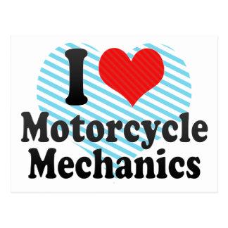 I Love Motorcycle Mechanics Postcard
