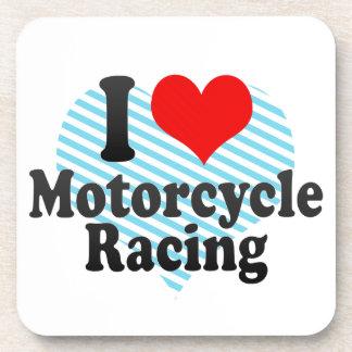 I love Motorcycle Racing Beverage Coaster