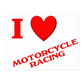 I Love Motorcycle Racing Postcard