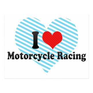 I Love Motorcycle Racing Postcard
