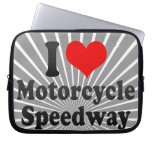 I love Motorcycle Speedway Laptop Computer Sleeves