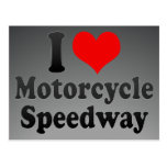 I love Motorcycle Speedway Post Card