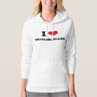 I Love Motorcycles Hooded Pullover